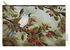 Tufted Titmouse Carry-all Pouch by Rick Bainbridge