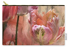 Tulips - Colors Of Love Carry-all Pouch by Carol Cavalaris