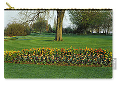 Tulips In Hyde Park, City Carry-all Pouch by Panoramic Images