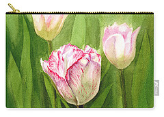 Tulips In The Fog Carry-all Pouch by Irina Sztukowski