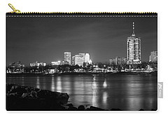 Tulsa In Black And White - University Tower View Carry-all Pouch by Gregory Ballos