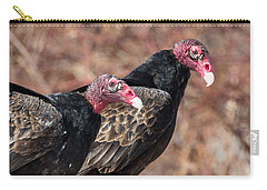 Turkey Vultures Square Carry-all Pouch by Bill Wakeley