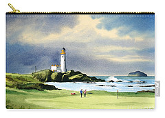 Turnberry Golf Course Scotland 10th Green Carry-all Pouch by Bill Holkham