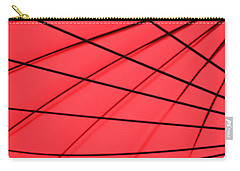Red And Black Abstract Carry-all Pouch by Tony Grider