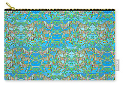 Under The Sea Horses Carry-all Pouch by Betsy Knapp