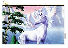 Unicorn The Land That Time Forgot Carry-all Pouch by Garry Walton
