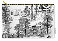 University Of Arkansas Carry-all Pouch by Liz  Bryant