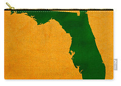 University Of Miami Hurricanes Coral Gables College Town Florida State Map Poster Series No 002 Carry-all Pouch by Design Turnpike
