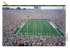 University Of Michigan Football Game Carry-all Pouch by Panoramic Images