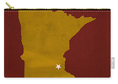 University Of Minnesota Golden Gophers Minneapolis College Town State Map Poster Series No 066 Carry-all Pouch by Design Turnpike