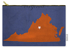 University Of Virginia Cavaliers Charlotteville College Town State Map Poster Series No 119 Carry-all Pouch by Design Turnpike
