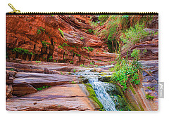 Upper Elves Chasm Cascade Carry-all Pouch by Inge Johnsson