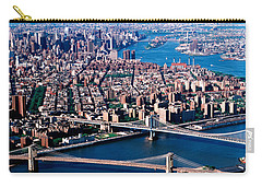 Usa, New York, Brooklyn Bridge, Aerial Carry-all Pouch by Panoramic Images