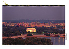 Usa, Washington Dc, Aerial, Night Carry-all Pouch by Panoramic Images
