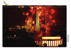 Usa, Washington Dc, Fireworks Carry-all Pouch by Panoramic Images
