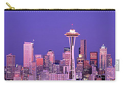 Usa, Washington, Seattle, Night Carry-all Pouch by Panoramic Images