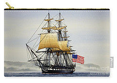 Uss Constitution Carry-all Pouch by James Williamson