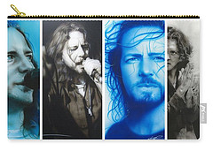 Eddie Vedder - ' Vedder Mosaic I ' Carry-all Pouch by Christian Chapman Art