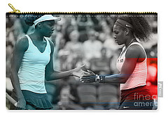 Venus Williams And Serena Williams Carry-all Pouch by Marvin Blaine