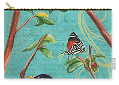 Verdigris Songbirds 1 Carry-all Pouch by Debbie DeWitt
