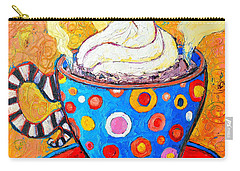 Viennese Cappuccino Whimsical Colorful Coffee Cup Carry-all Pouch by Ana Maria Edulescu