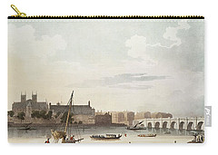 View Of Westminster And The Bridge Wc On Paper Carry-all Pouch by English School