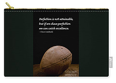 Vince Lombardi On Perfection Carry-all Pouch by Edward Fielding