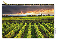Vineyard At Sunset Carry-all Pouch by Elena Elisseeva