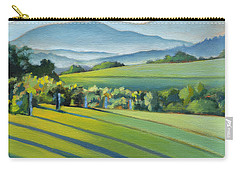 Vineyard Blue Ridge On Buck Mountain Road Virginia Carry-all Pouch by Catherine Twomey