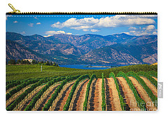 Vineyard In The Mountains Carry-all Pouch by Inge Johnsson