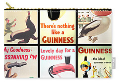 Vintage Guinness  Carry-all Pouch by Georgia Fowler