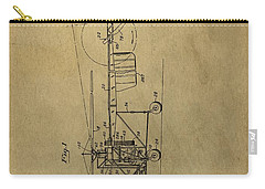 Vintage Helicopter Patent Carry-all Pouch by Dan Sproul