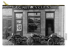 Vintage Motorcycle Dealership Carry-all Pouch by Jon Neidert