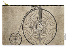 Vintage Penny-farthing Bicycle Illustration Carry-all Pouch by Dan Sproul