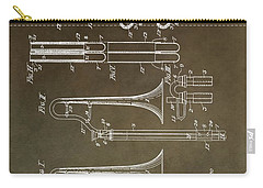 Vintage Trombone Patent Carry-all Pouch by Dan Sproul