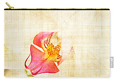 Vintage White Orchid Carry-all Pouch by Delphimages Photo Creations