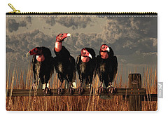 Vultures On A Fence Carry-all Pouch by Daniel Eskridge