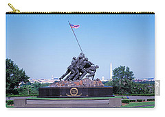 War Memorial With Washington Monument Carry-all Pouch by Panoramic Images