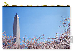 Washington Monument Behind Cherry Carry-all Pouch by Panoramic Images