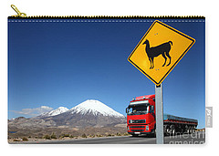 Watch Out For Llamas Carry-all Pouch by James Brunker