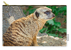 Watchful Meerkat Vertical Carry-all Pouch by Jon Woodhams