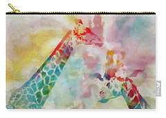 Watercolor Giraffes Carry-all Pouch by Dan Sproul