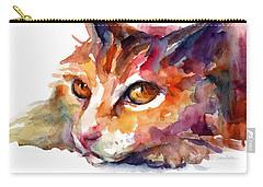 Watercolor Orange Tubby Cat Carry-all Pouch by Svetlana Novikova