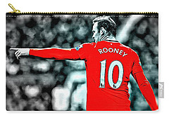 Wayne Rooney Poster Art Carry-all Pouch by Florian Rodarte