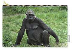 Western Lowland Gorilla Female Carry-all Pouch by Gerry Ellis