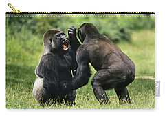 Western Lowland Gorilla Males Fighting Carry-all Pouch by Konrad Wothe