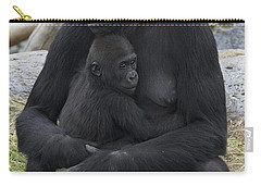 Western Lowland Gorilla Mother And Baby Carry-all Pouch by San Diego Zoo