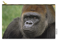 Western Lowland Gorilla Silverback Carry-all Pouch by Gerry Ellis