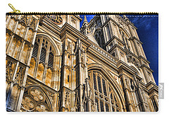 Westminster Abbey West Front Carry-all Pouch by Stephen Stookey