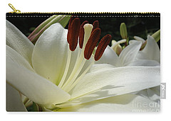 White Asiatic Lily Carry-all Pouch by Jacqueline Athmann